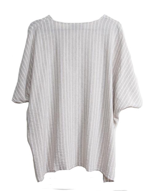 Tienda Ho 82 Top in Striped Linen