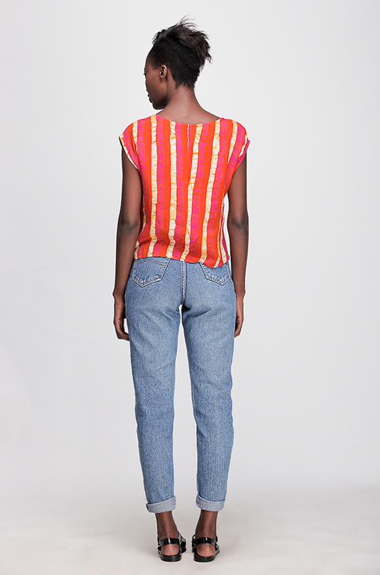 Osei-Duro Maena Shell in Candy Stripe