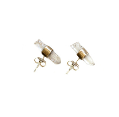 Friends of Natives Crystal Quartz Earrings