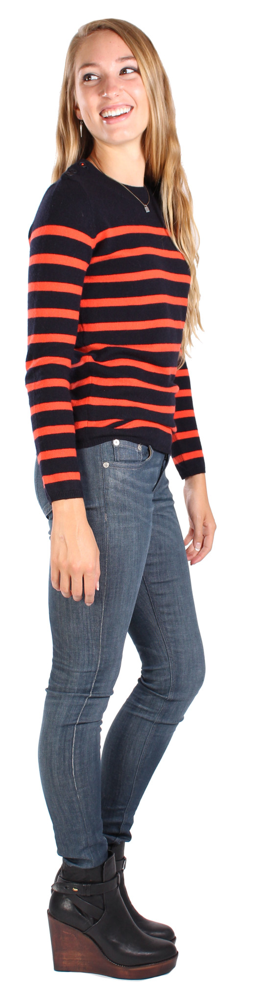 Chinti and Parker Guernsey Stripe Sweater