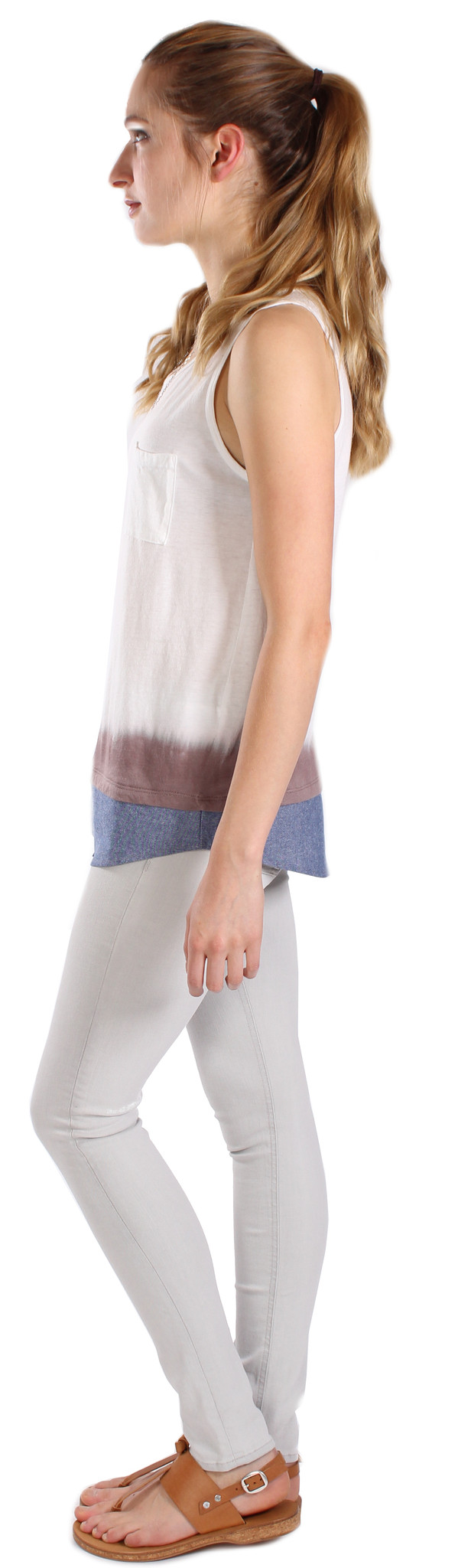 Shirt Tailed Dip-Dyed Tank