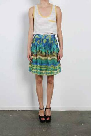 Wren Pleated Tie Dye Skirt