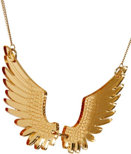 Tatty Devine Large Gold Pegasus Necklace