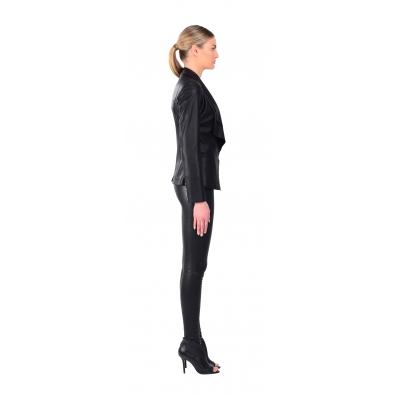 LAMARQUE Violet Leather Blazer