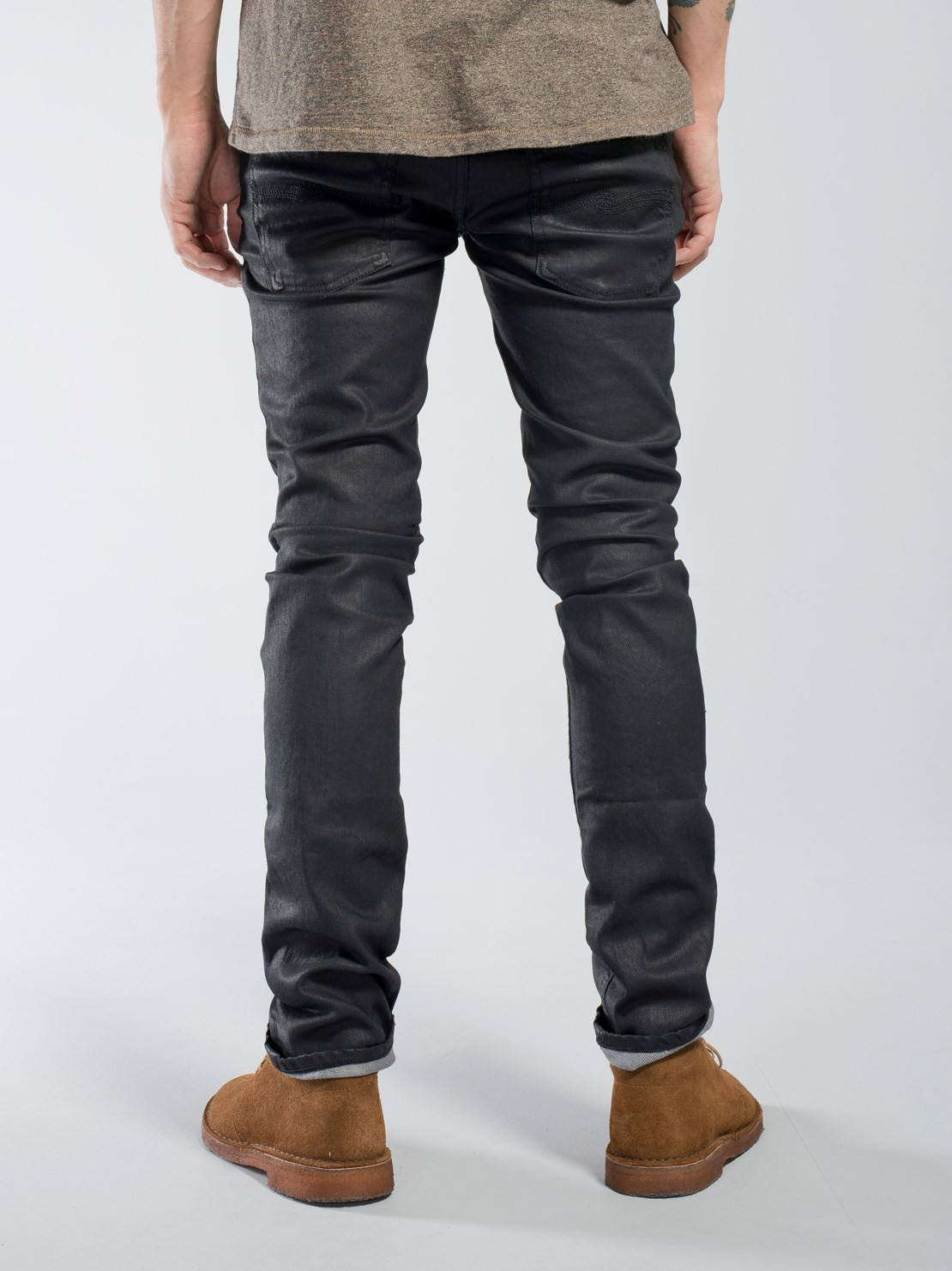 Nudie Jeans Thin Finn: Back 2 Black Jeans
