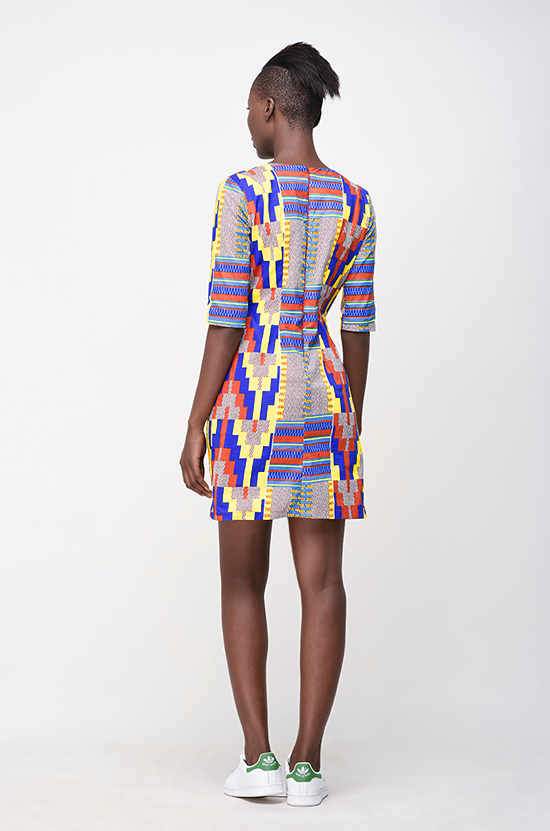 Osei-Duro Muto Dress in Kente Wax Print