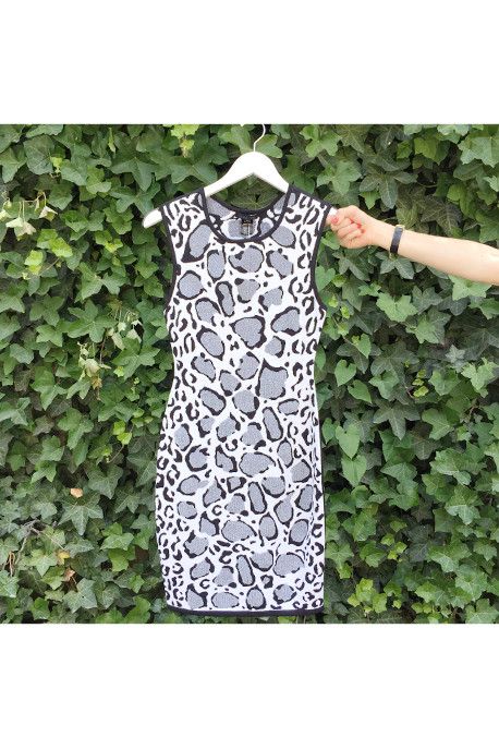 Ohne Titel Leopard Print Reversible Knit Dress