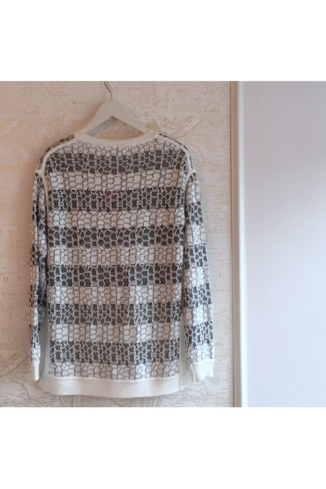 10 Crosby by Derek Lam Striped Jacquard Sweater