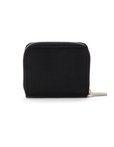 J'apostrophe Black Textured Small Wallet