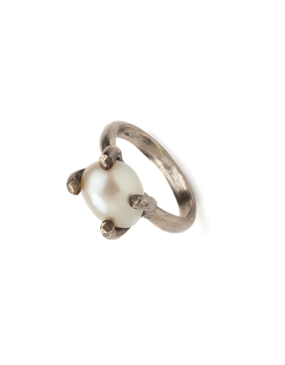 Roost Cage Pearl Ring