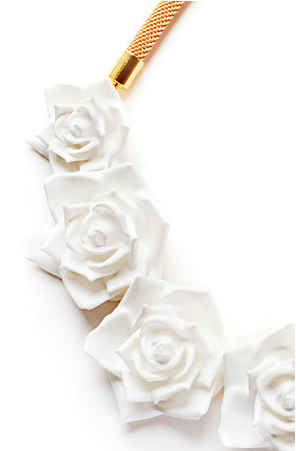Ebony Fleur Rose Statement Necklace