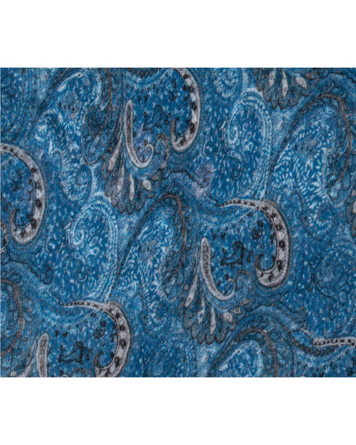 Grisal Linea 100% Ramie Scarf in Blue Paisley