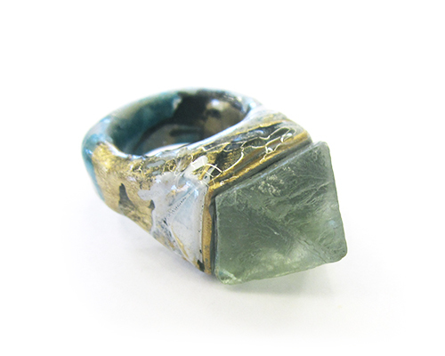 Adina Mills Protector Ring with Flourite