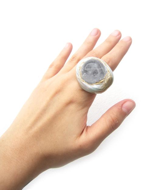 Adina Mills The Knowing Quartz Globe Ring