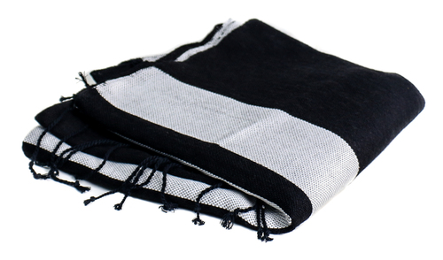 Scents & Feel Bicolor Throw in Black and Grey