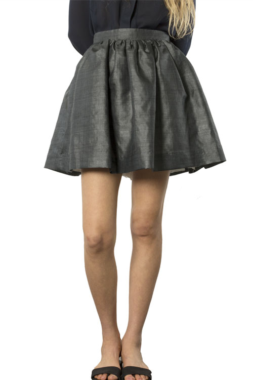 Heidi Merrick Bora Skirt (Charcoal)