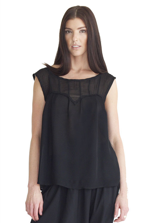 Heidi Merrick Sello Top (Black)