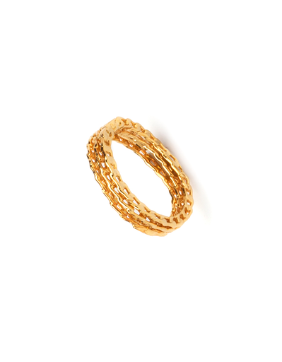 Unearthen 18K Plated Lyncis Ring Set