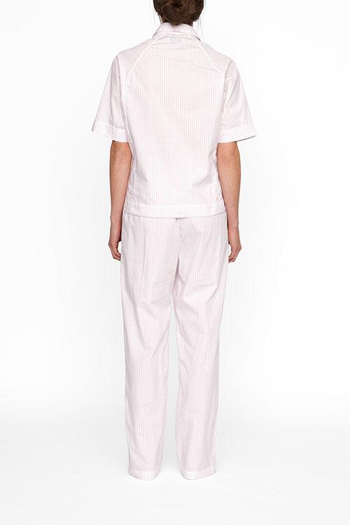 The Sleep Shirt Raglan Pyjama Top | Red + White Stripe
