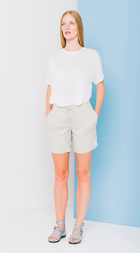 Lightweight Shorts with Drawstring