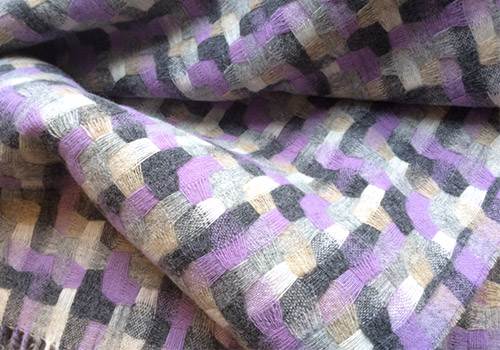 Bronte Clover Geometric Lambswool Throw
