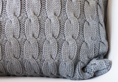 Darzzi Big Cable Grey Cotton Cushion