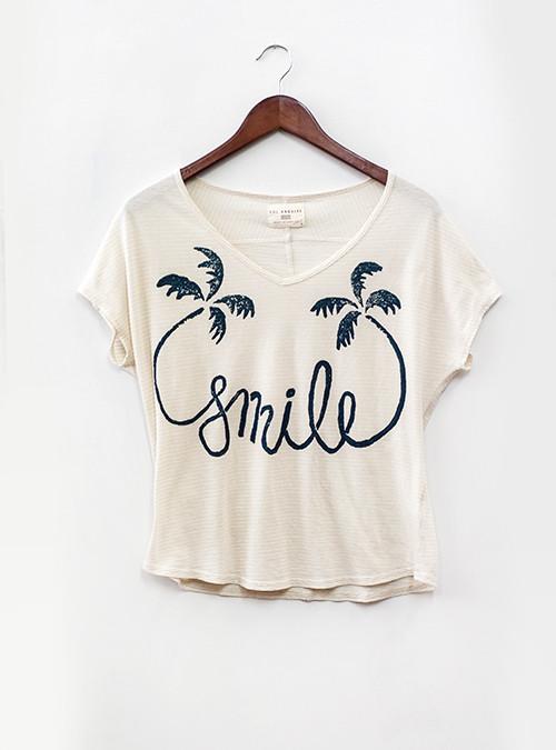 Sol Angeles Smile V-Neck Tee