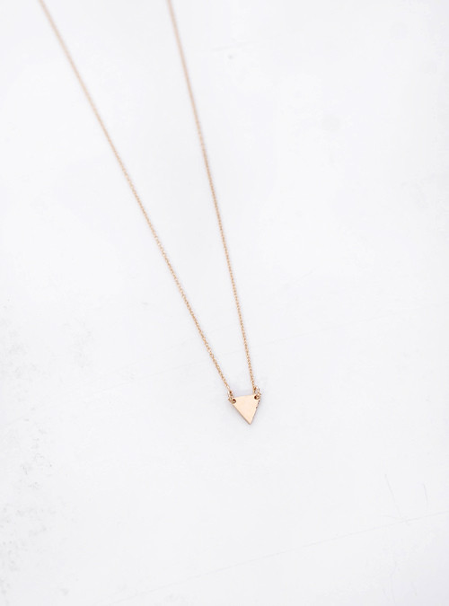 Gem + Blue Tiny Peak Necklace
