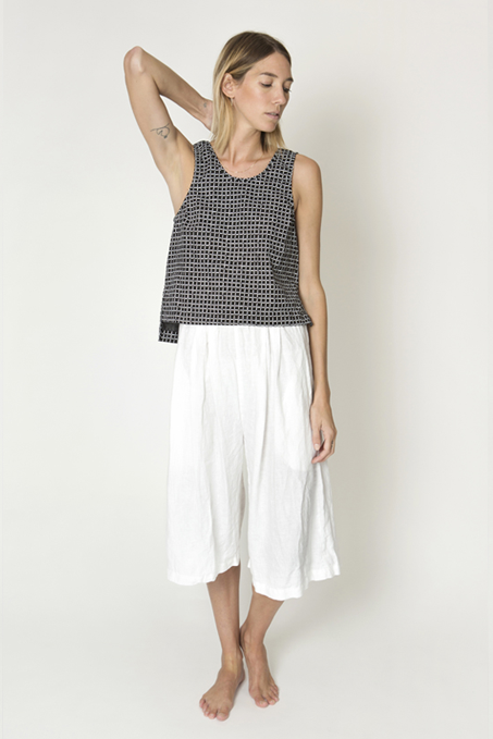 Ilana Kohn Roxey Tank in Black Grid