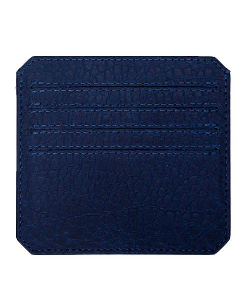 Parabellum 4-Card Wallet in Vibrant Blue Bison Leather