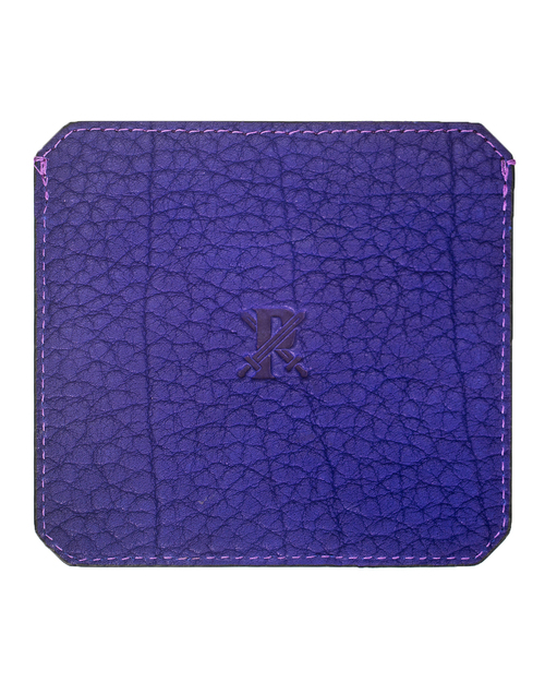 Parabellum 4-Card Wallet in Violet Bison Leather