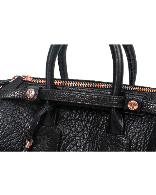 Parabellum Medicine Woman Bag in Black Bison with Copper Hardware