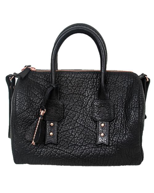 Parabellum Medicine Woman Bag in Black Bison with Copper Hardware