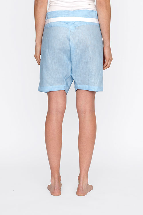 The Sleep Shirt Fisherman's Short Spa Blue Linen