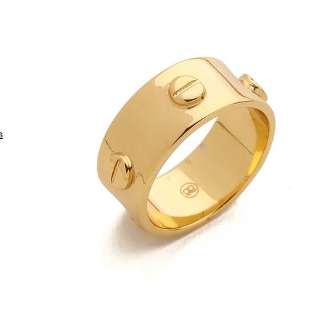 Gorjana gold chaplin ring