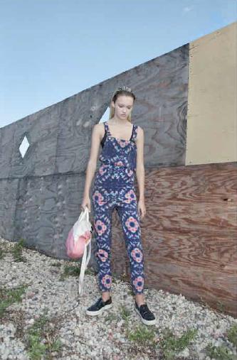 Collina Strada Petroglyph Overalls Roses