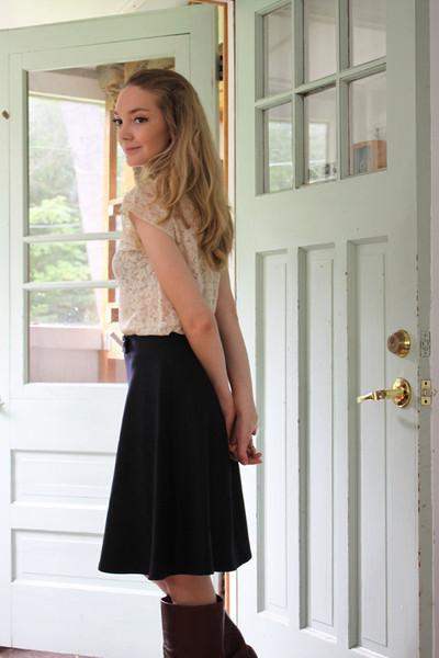 Betina Lou Magda Skirt   Navy