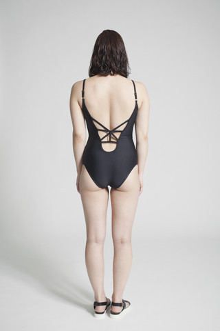 Mimi Hammer Black One Piece Swimsuit
