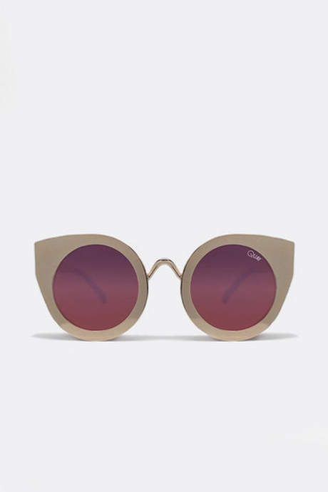 QUAY Tainted Love Cat-Eye Sunglasses- Gold