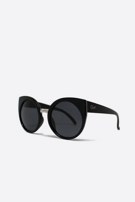 QUAY Tainted Love Cat-Eye Sunglasses- Black