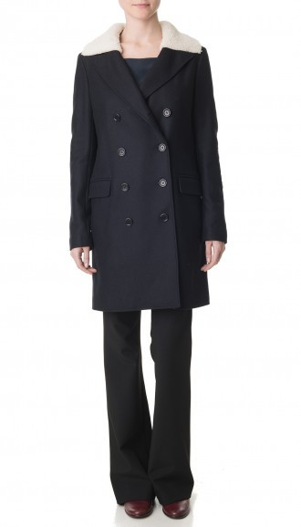 Tibi 'Esquire' coat with Alpaca patches