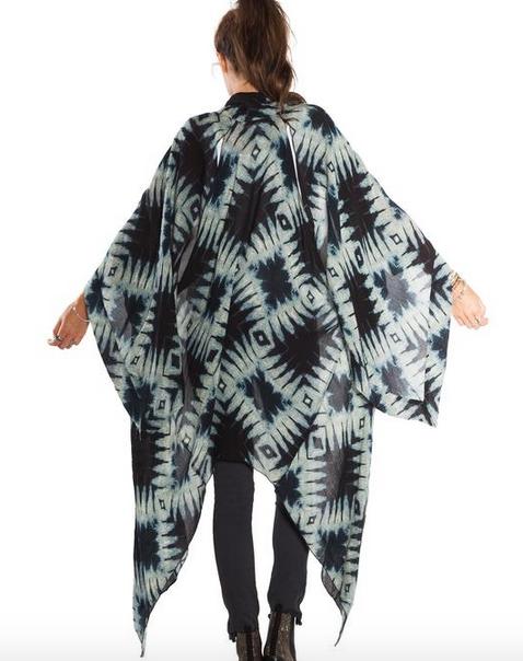 AMUSE SOCIETY Moonshadow Woven Kimono - Faded Indigo