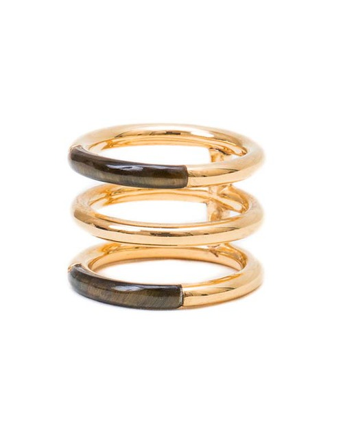 A Peace Treaty Weila Gold and Blue Tigers Eye Ring