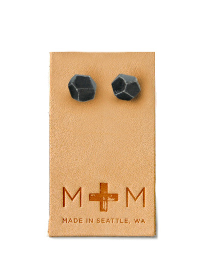 Maple & Mauve Ceramic Facets Studs