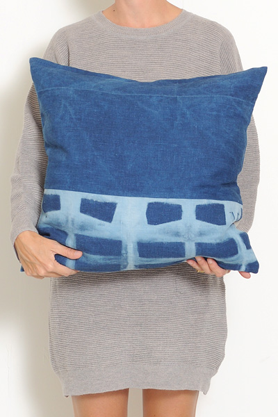 Mineral Workshop Rustic Indigo Pillow #2