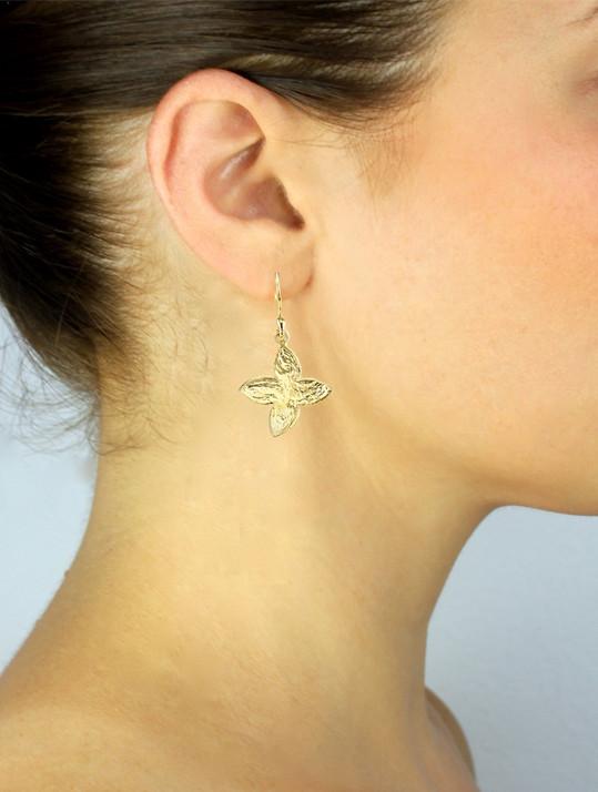 SíSí Design Gold Jasmine Earrings