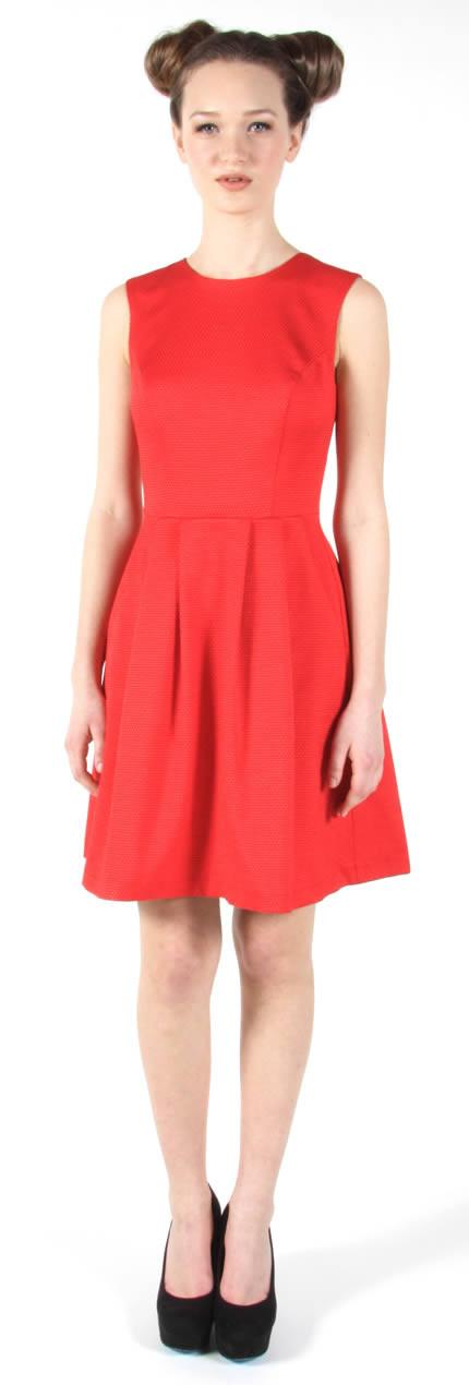Birds of North America Sunbittern Dress (Red)