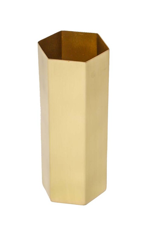 Ferm Living Brass Hexagon Vase