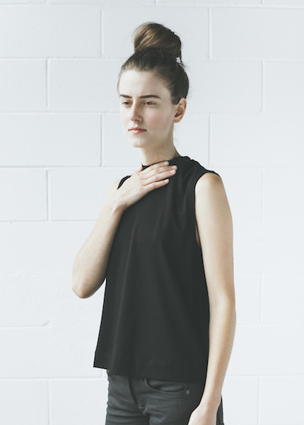 Rag & Bone Charley Mock Neck Tee