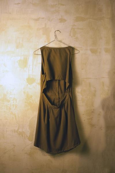 Cape Back Dress